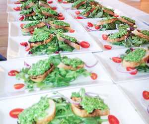 Catered salads at Three Tomatoes